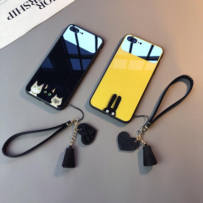 玻璃镜面款iphone6s苹果情侣手机壳(非品牌)
