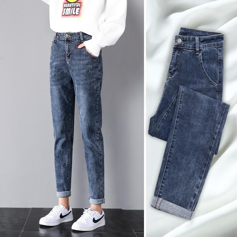 牛仔裤女宽松高腰春装萝卜女裤2020年新款女装潮显瘦春秋老爹裤子图片