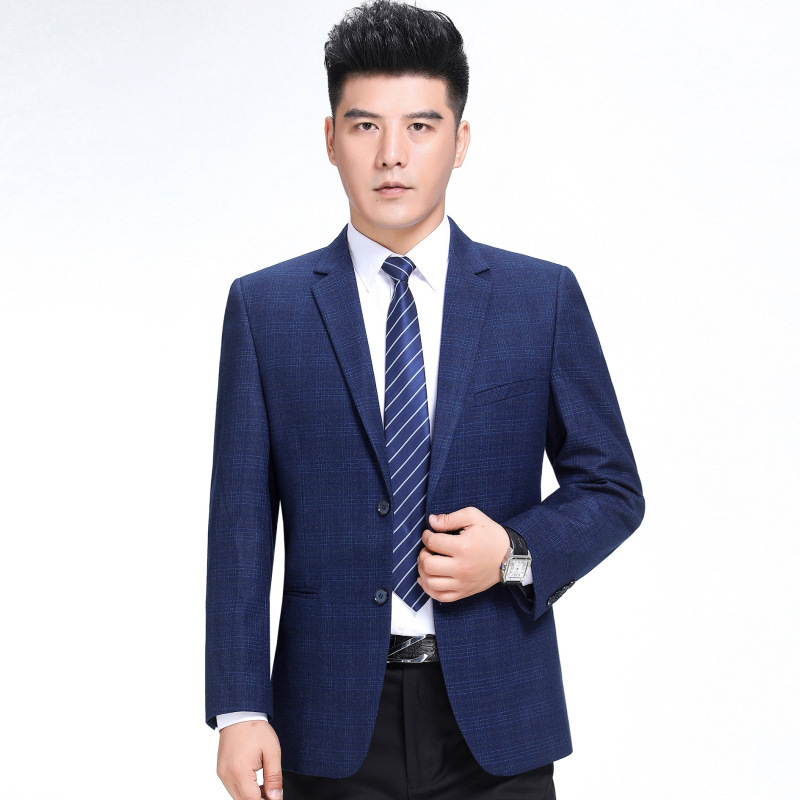 Promotion mens suits autumn and winter fashion business middle-aged wool single suit fashion mens plaid coat youth fashion