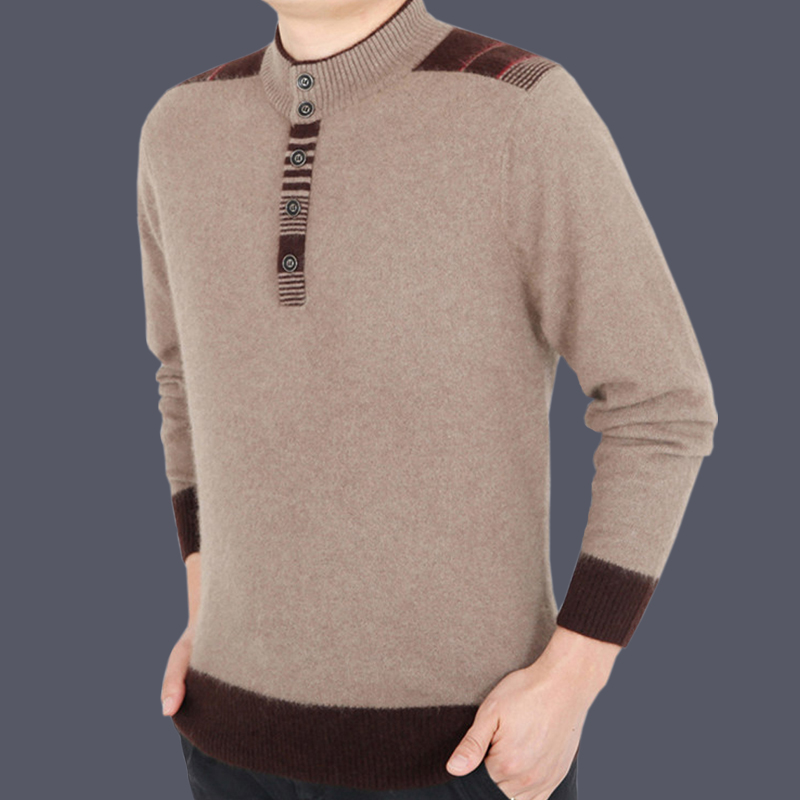 Produced in Ordos cashmere sweater mens cashmere thickened mens sweater winter mens sweater