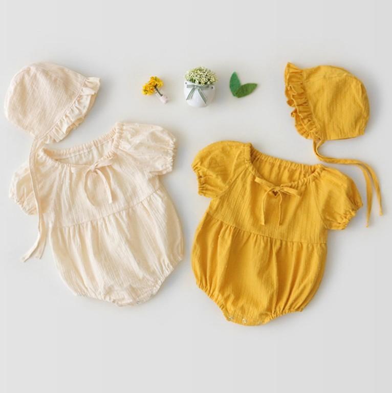 纯棉新生儿衣服三角包屁衣宝宝连体衣帽子哈衣1岁礼服2岁爬服代发