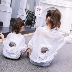 领2元券购买儿童2020夏装洋气母女装女童防晒衣