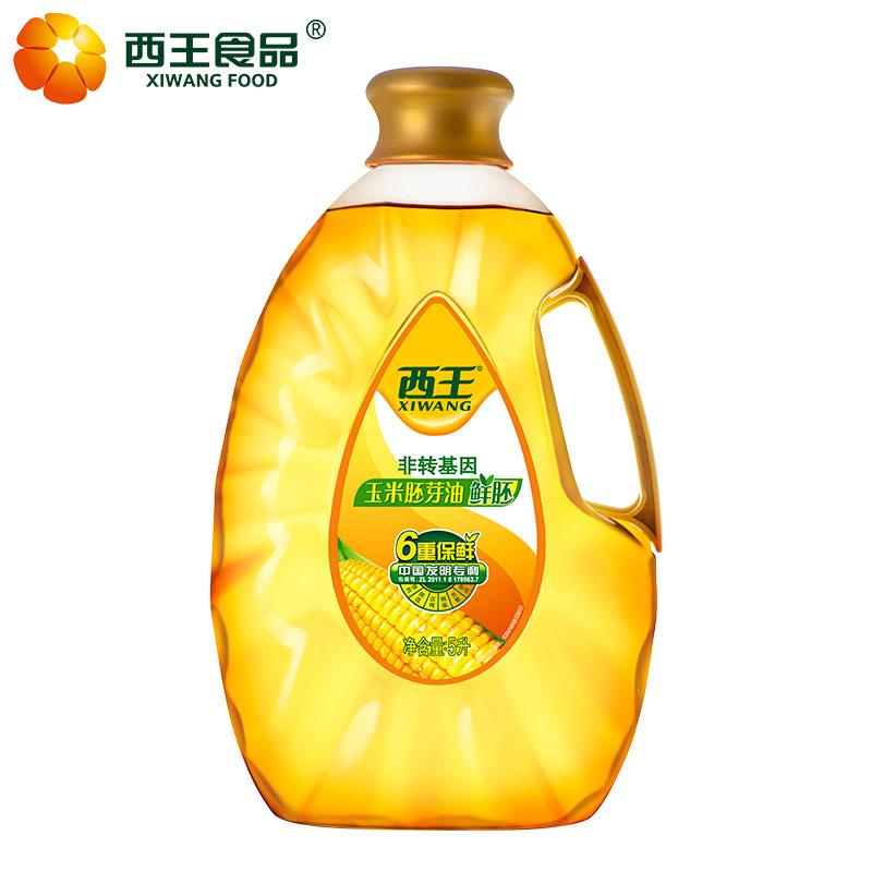 西王鲜胚玉米胚芽油5L食用油非转基因物理压榨植物油烘培粮油包邮