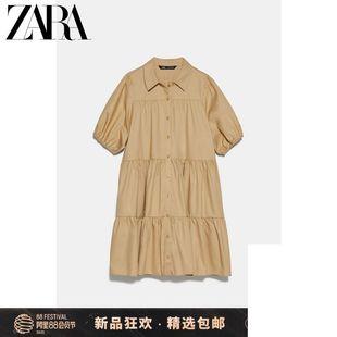 ZARA新款 TRF 女裝 寬擺連衣裙 07901903704