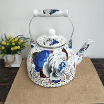加厚搪瓷4升烧水壶家用凉水壶开水壶电磁炉燃气灶通用大容量茶壶
