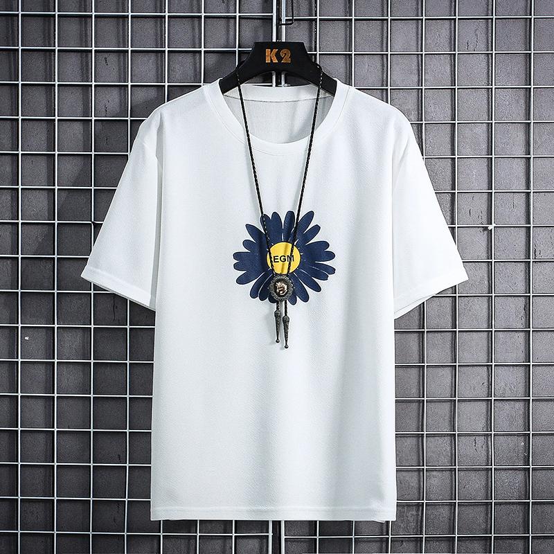 男士短袖t恤夏季2019新款韩版潮流宽松纯棉体恤上衣服男套装夏装