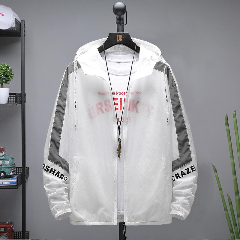 Mens sunscreen clothes ultra thin breathable summer 2020 new Korean fashion jacket junior high school students thin jacket