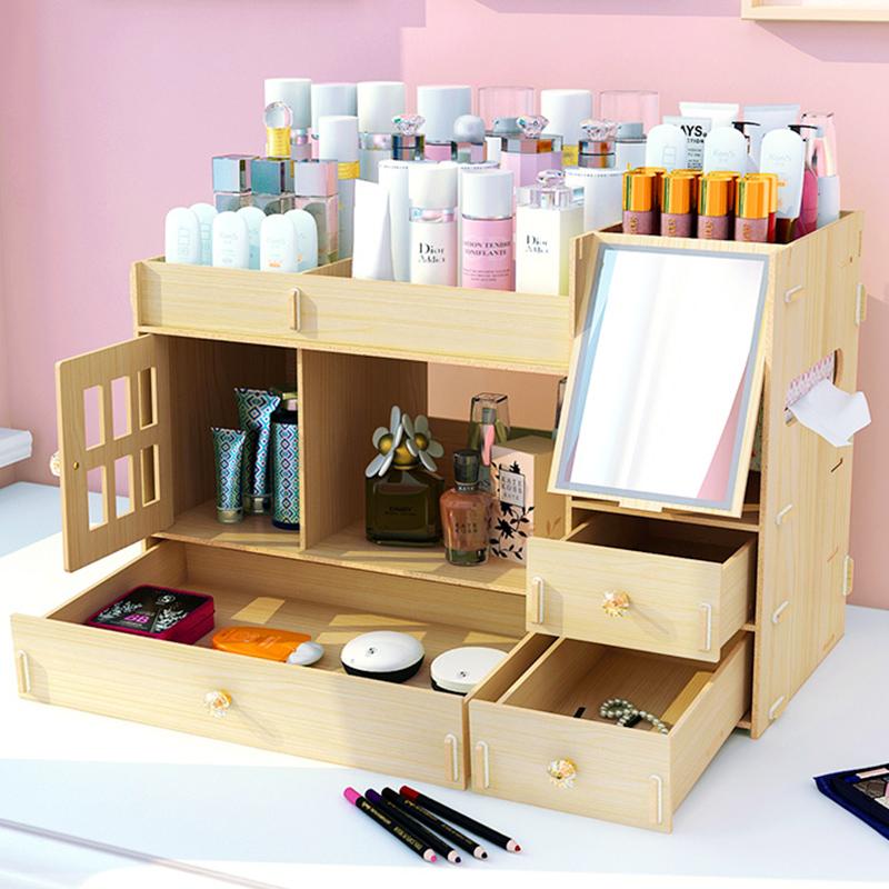 桌面抽屉式大学生宿舍护肤品收纳盒10月20日最新优惠