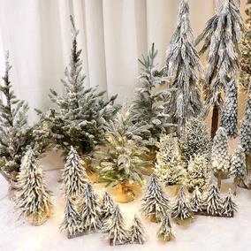 圣诞节装饰品网红植绒pe落雪雪松
