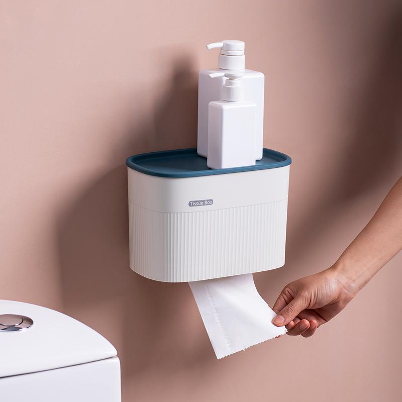 热销2506件买三送一卫生间纸巾盒厕所免打孔浴室厕纸盒创意卷纸盒壁挂式卫生纸置物架