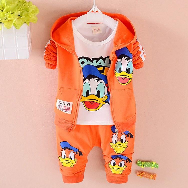 男童1女宝宝2女婴儿童装3岁半春装4春秋款衣服幼儿韩版三件套装潮(非品牌)