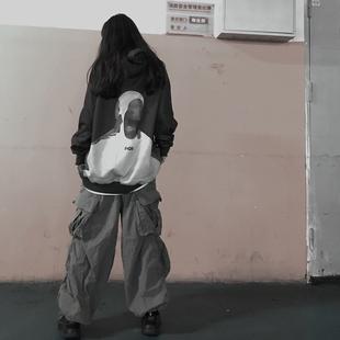 女嘻哈人像数码 卫衣情侣街头宽松ins连帽衫 MOCDIRD潮牌秋季 潮F426