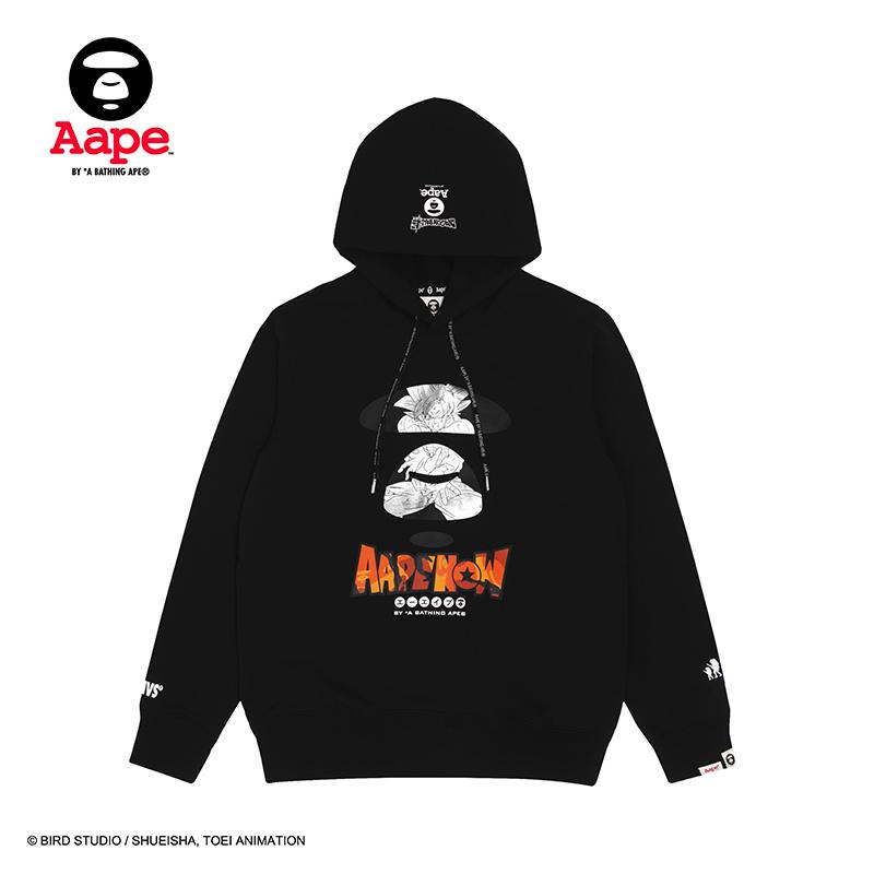 Aape X DRAGON BALL SUPER聯名猿顏印花加絨衛衣9337XXD