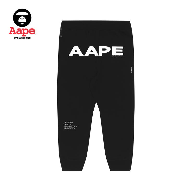 Aape男装春夏猿颜徽章字母印花迷彩拼接束脚休闲裤6641XXE