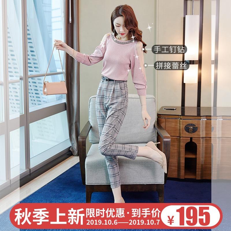 热销83件限时秒杀两件套女欧货19年新款初秋轻熟毛衣
