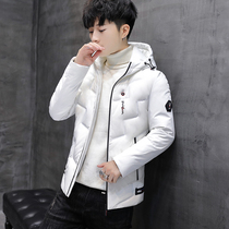 Cotton man 2018 Winter new Korean version trend slimming Handsome mens coat hooded thickened down cotton winter