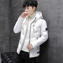 Cotton men 2018 winter new Korean version of the trend of self-cultivation handsome men's jacket hooded thick down cotton winter