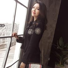 韩版复古chic收腰春季夹克外套