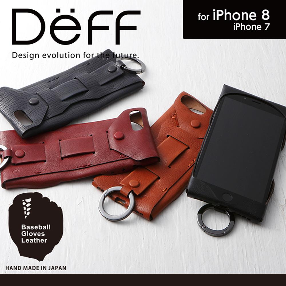 日本直邮包邮 deff iPhone 8/7真皮复古手机壳带环扣