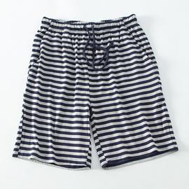 莫代尔短裤睡裤女夏季薄款家居裤日系条纹宽松居家运动瑜伽五分裤