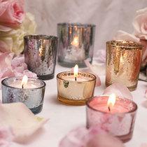 只包邮马赛克玻璃烛台欧式复古摆件礼品烂漫酒吧蜡烛杯家居饰品2