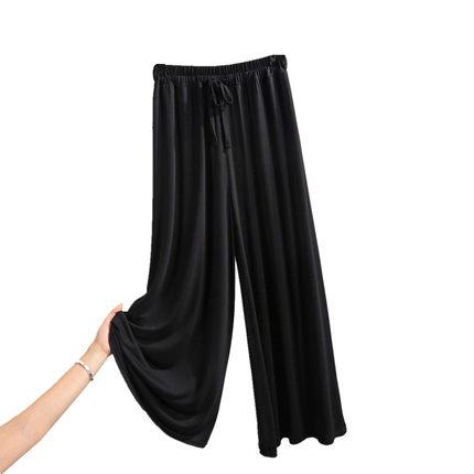 薄款莫代尔阔腿裤夏韩版宽松休闲裤