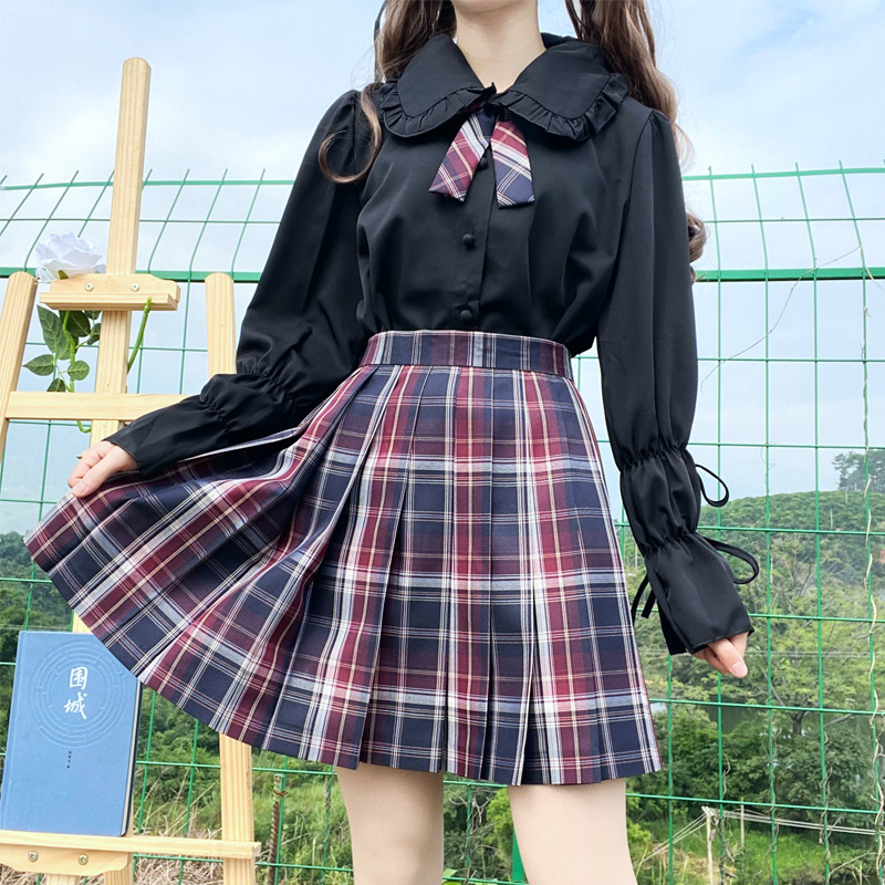Fall 2020 Japanese soft girl lace Lolita with baby collar long sleeve white shirt female leg sleeve top