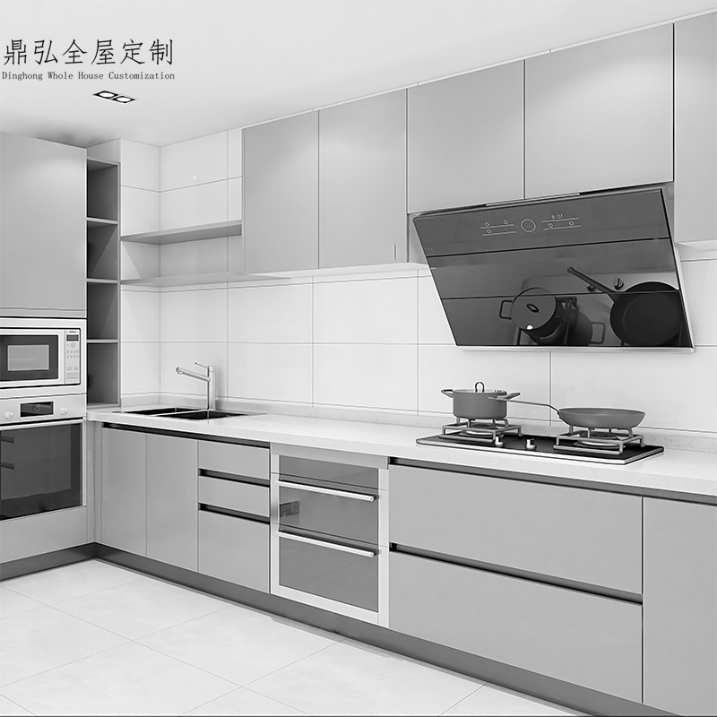 Hangzhou Dinghong modern simple open overall kitchen cabinet assembly kitchen cabinet custom made kitchen cabinet
