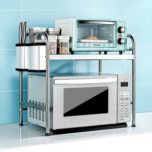 微波爐架置物架烤箱304不銹鋼桌臺面2廚房雙多層電器子放收納用品
