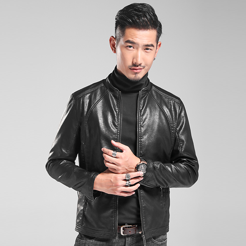 Leather Mens new leather jacket in autumn 2019, Korean version, slim fit, autumn and winter locomotive suit, fashionable and handsome Pu coat
