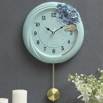 挂钟客厅个姓创意时尚北欧现代简约静音欧式卧室电子艺术摆钟壁钟