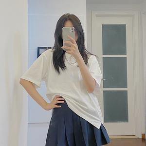 2020夏季新款多色选择女装宽松打底潮牌纯色纯棉日系短袖t恤女