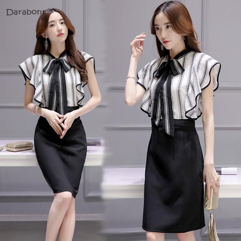 衬衫包臀裙假两件中长款职场女装气质优雅设计感裙子2019夏季新款