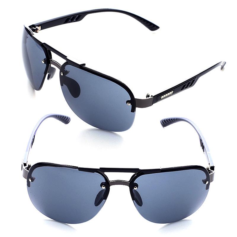 新款树脂太阳镜无框欧美潮个性时尚开车潮爆男士太阳眼镜墨镜