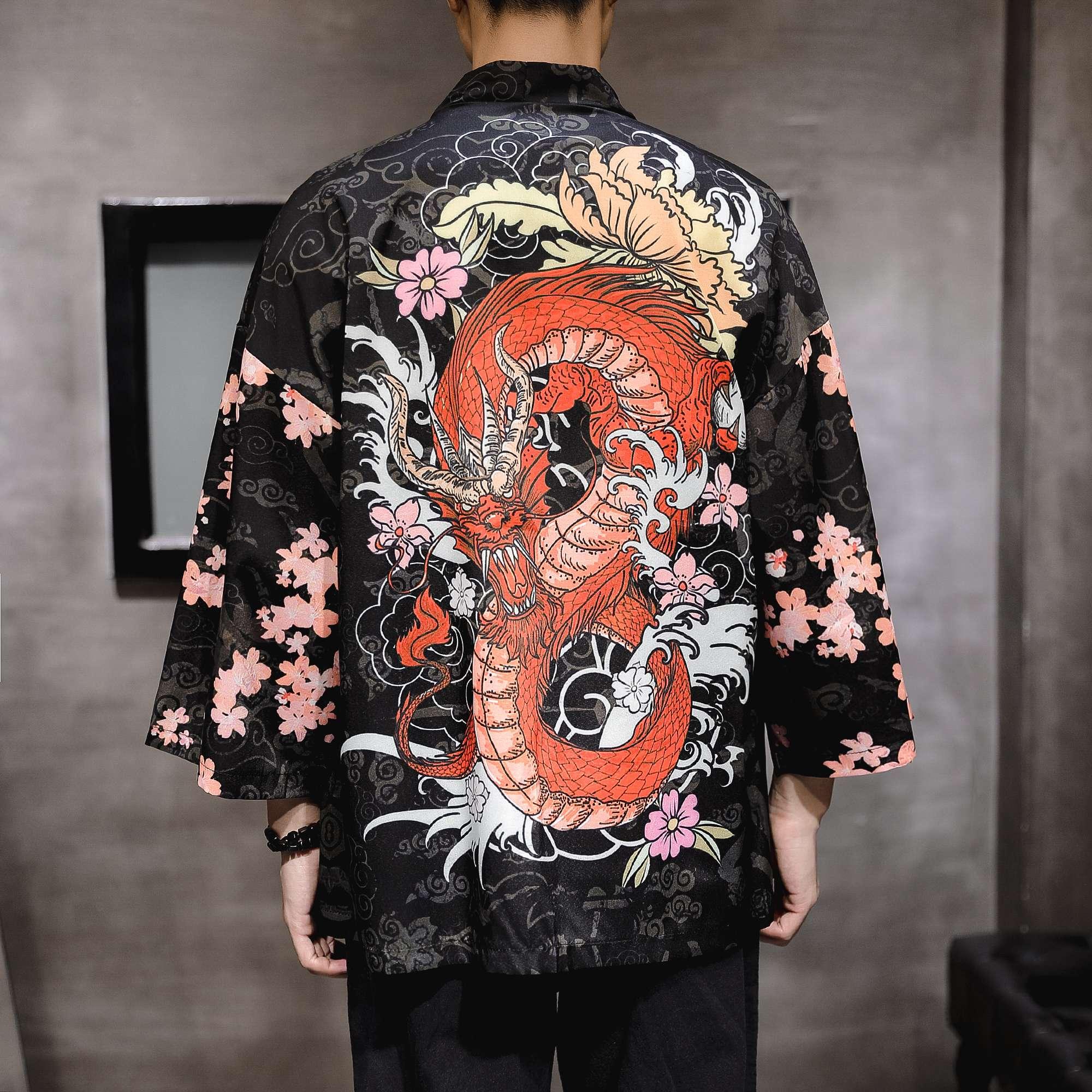秋季中国风外套男士潮牌宽松改良汉服古风龙袍披风唐装男装上衣服