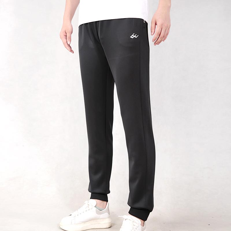 向尚运动男士宽松潮流长裤系带针织户外慢跑运动裤春季0114-01