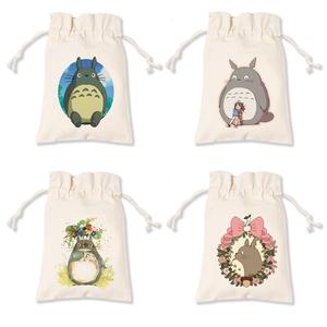 宫崎骏龙猫 手工帆布袋 抽绳束口袋 礼品包装袋 可定制