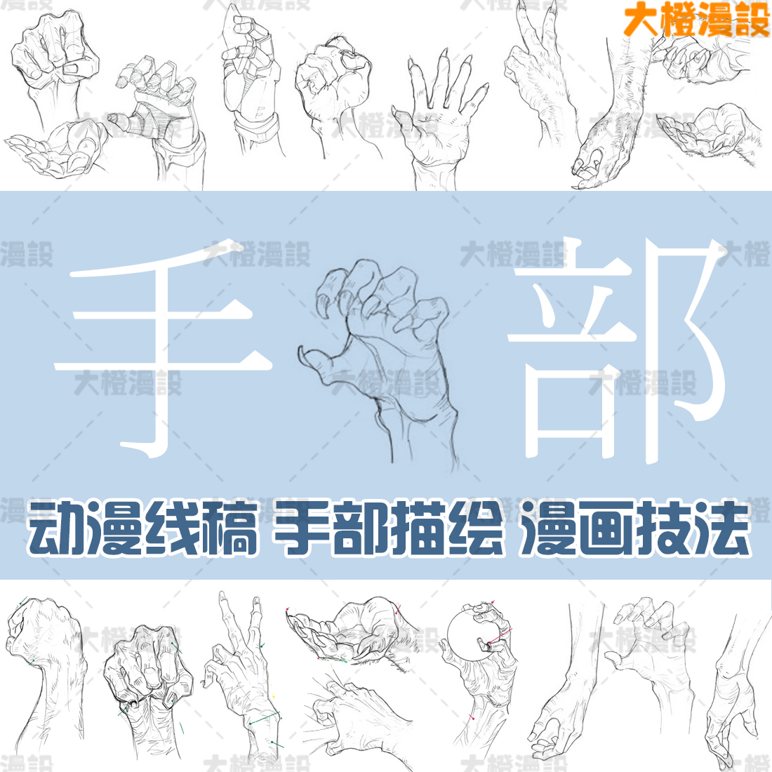 The cartoon material of the line manuscript lecture: Fang Hongzhi, human body, mind and mind