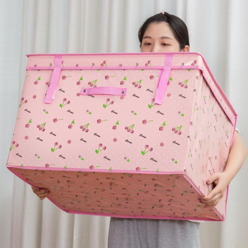 衣物收纳箱布艺 特大号防潮棉被整理箱储物箱子可折叠收纳盒 Изображение 1