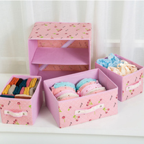 Drawer underwear storage Boxed bra socks underwear box fabric folding storage Box Finishing Box