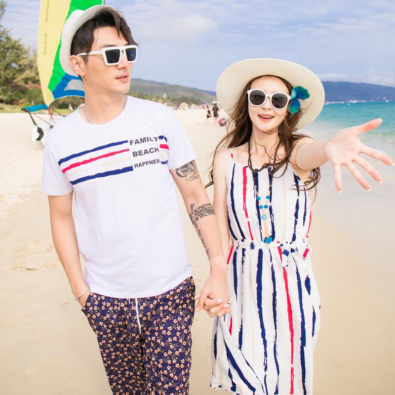 亲子装沙滩裙海边度假母女装夏2019新款海滩裙超仙夏装连衣裙套装