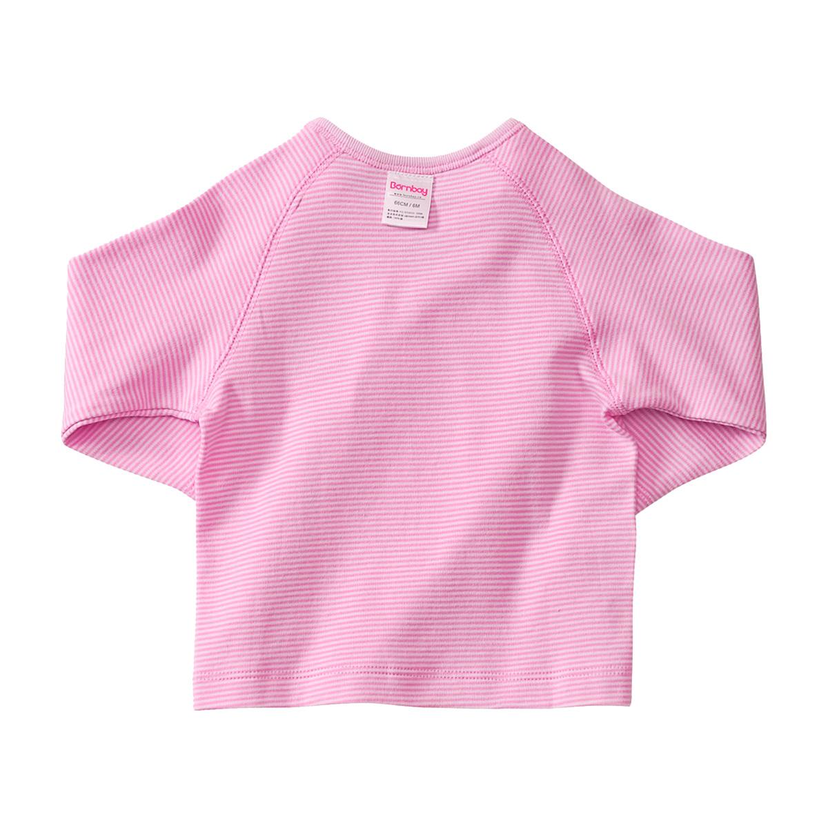 貝貝怡新生兒衣服春秋純棉條紋嬰兒上衣0~3~6個月寶寶和尚服BB311