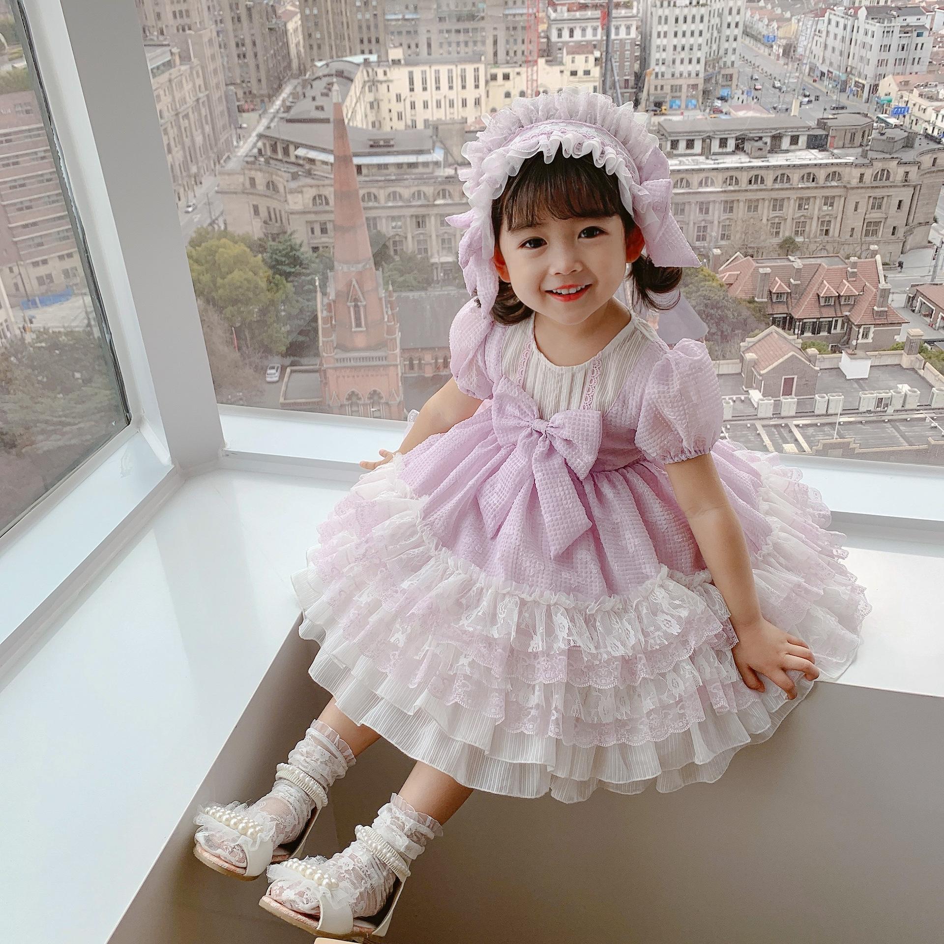 小童洛丽塔夏款萝莉裙女童裙子儿童连衣裙夏季西班牙宫廷风公主裙