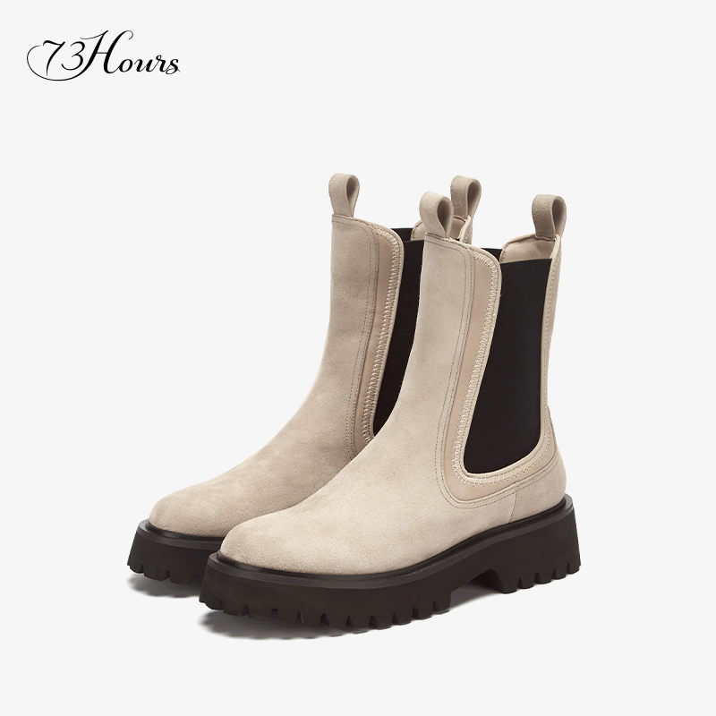 Plus purchase a pair of 1173Hours women's shoes Hyper2020 autumn and winter fashion boots smoke boots Chelsea boots