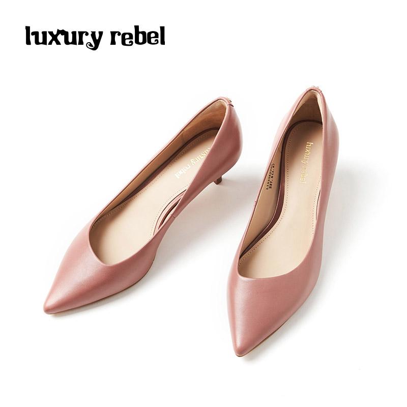 LR女鞋Luxury Rebel 2018秋季新品简约时尚细跟尖头单鞋浅口女鞋