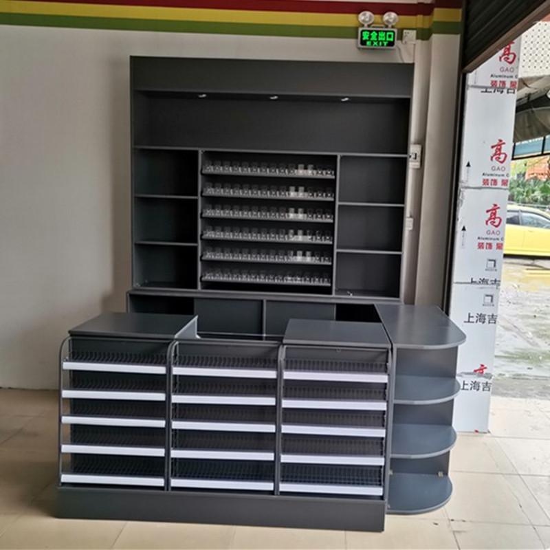 便利店收银台烟酒柜组合多功能简约小型超市烟柜酒柜定制烟酒柜台