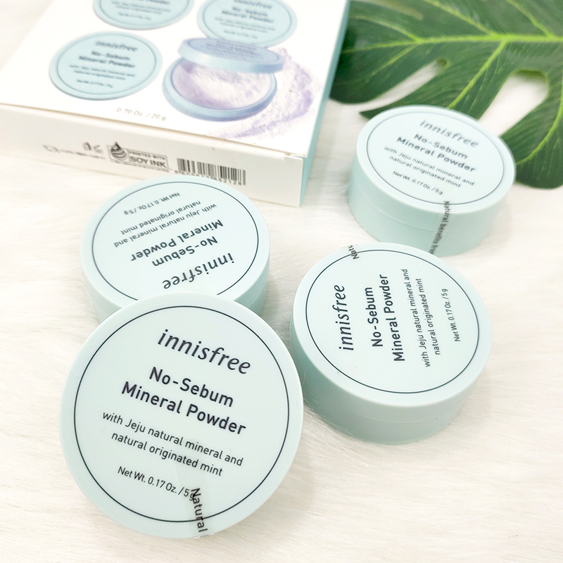 Korean style, mineral Mint powder, durable makeup, concealer, honey powder, invisible pore, oil control, good night powder.