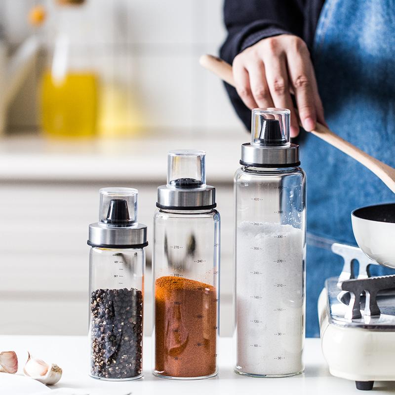 调味瓶罐玻璃调料罐套装调料盒家用密封调料瓶大号厨房盐罐收纳瓶