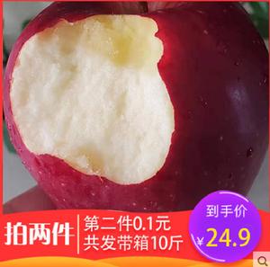 甘肃天水花牛苹果水果新鲜现摘带箱5斤红蛇果礼县粉面批发包邮