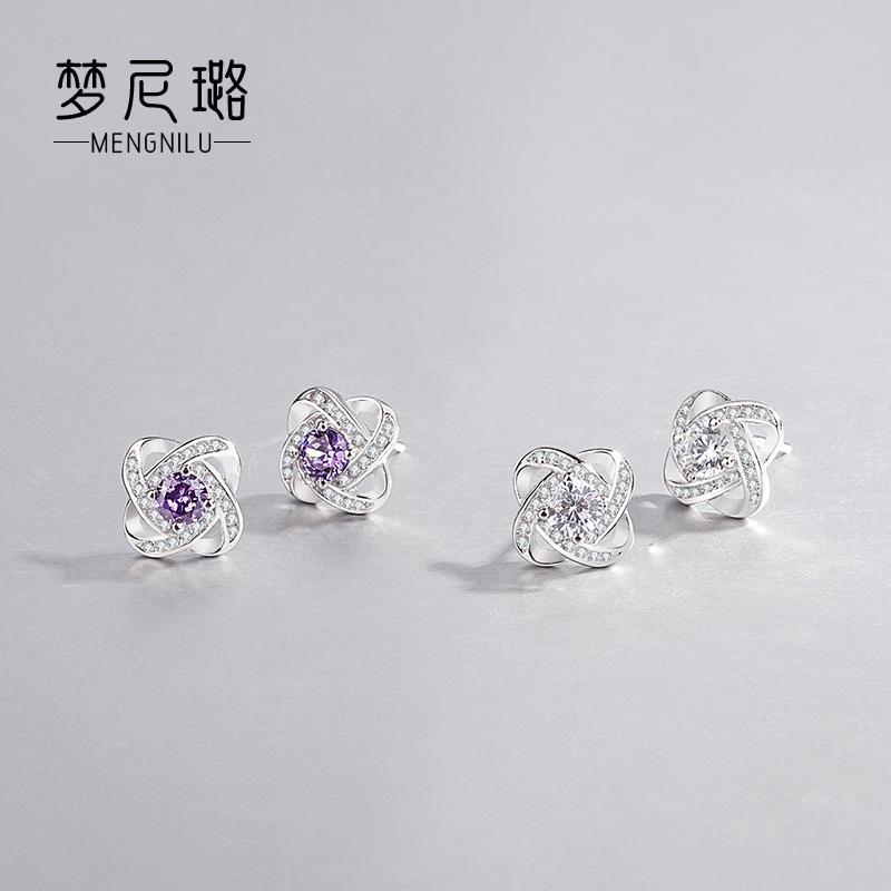S925 Sterling Silver eternal Star Earrings female temperament Korean simple and versatile